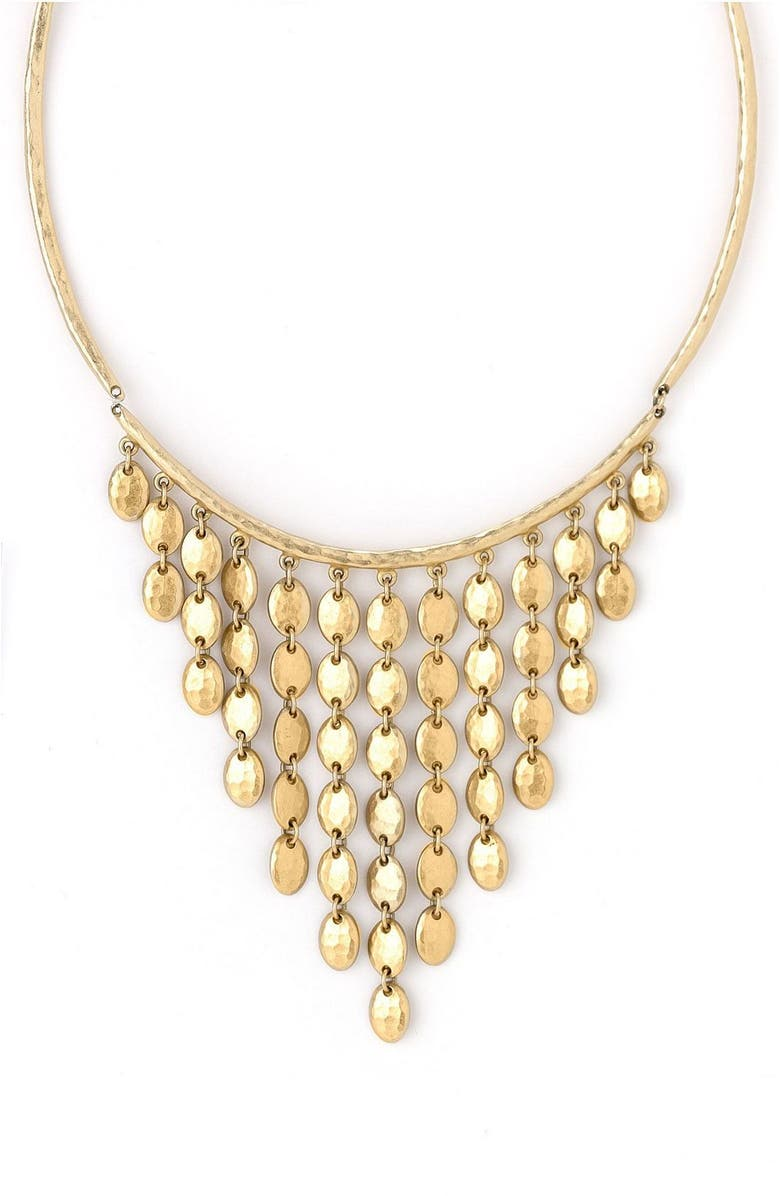 NORDSTROM Goldtone Bib Necklace, Main, color, 710