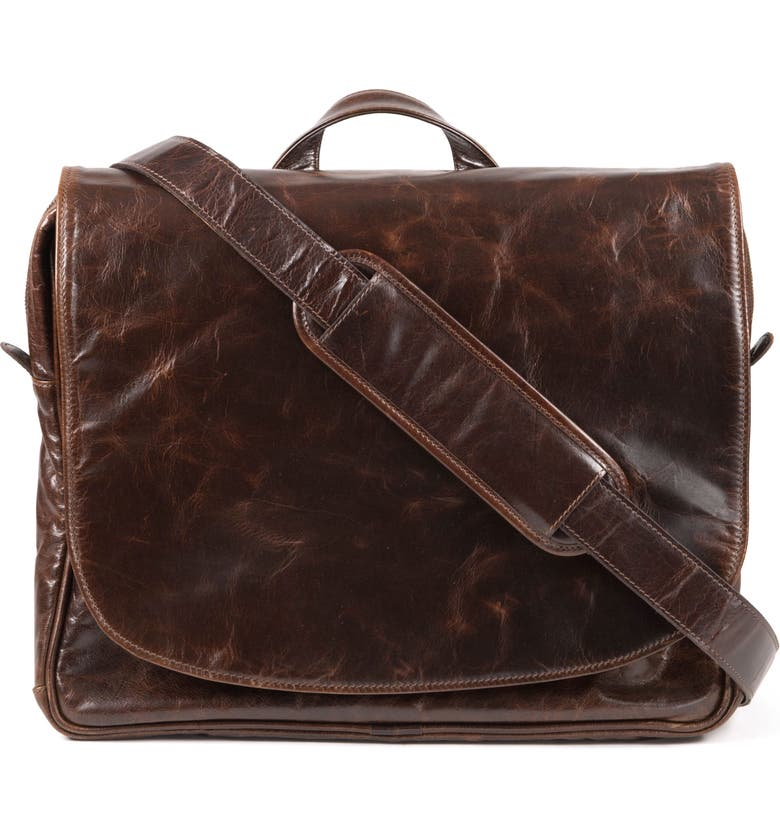 MOORE & GILES Wynn Leather Messenger Bag, Main, color, 207
