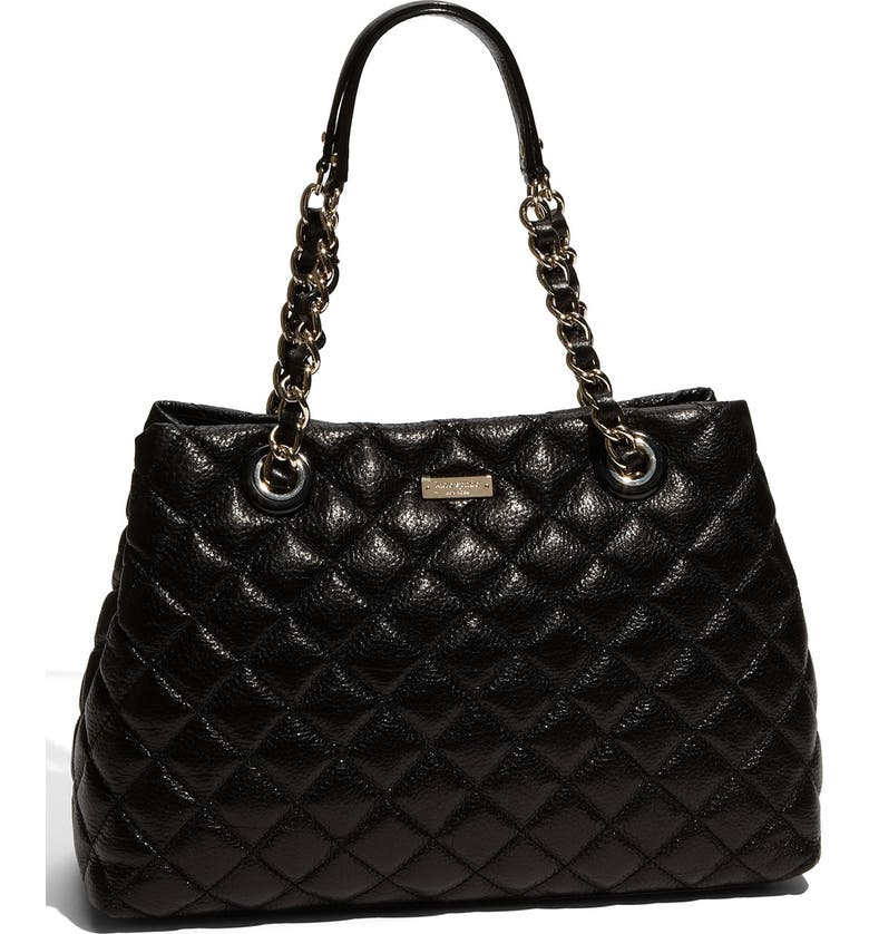 KATE SPADE NEW YORK 'gold coast - maryanne' quilted leather shopper, large, Main, color, 001