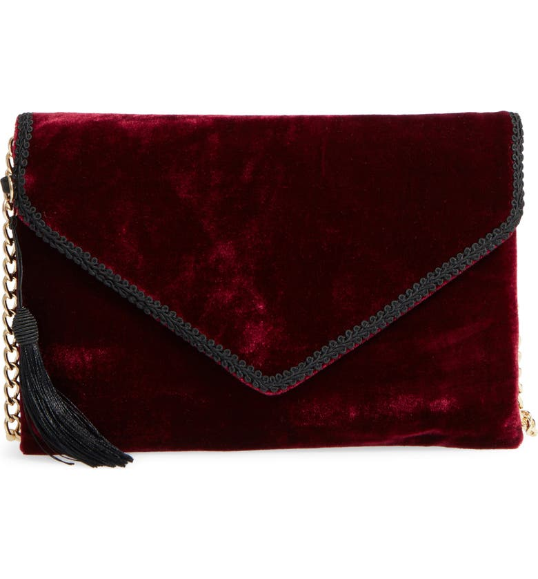LEITH Embellished Velvet Clutch, Main, color, 930