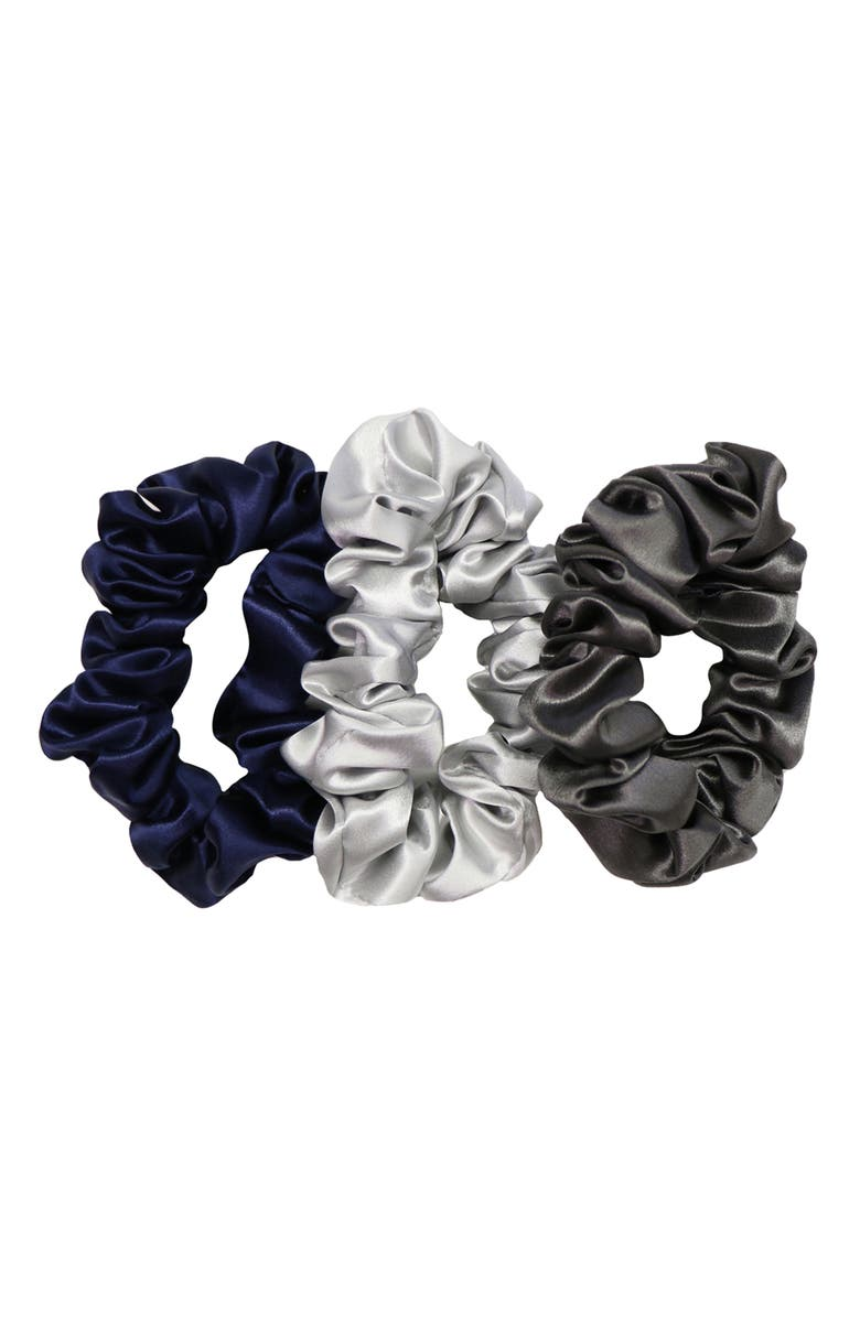 SLIP Pure Silk 3-Pack Hair Ties, Main, color, MIDNIGHT