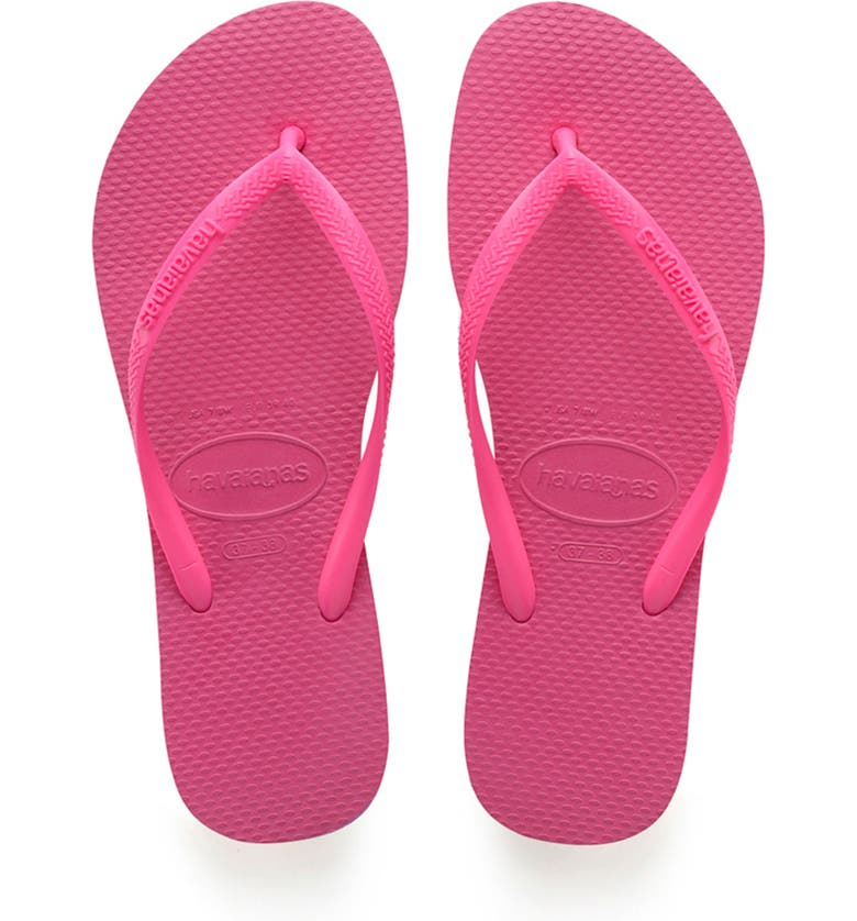 HAVAIANAS 'Slim' Flip Flop, Main, color, PINK FLUX