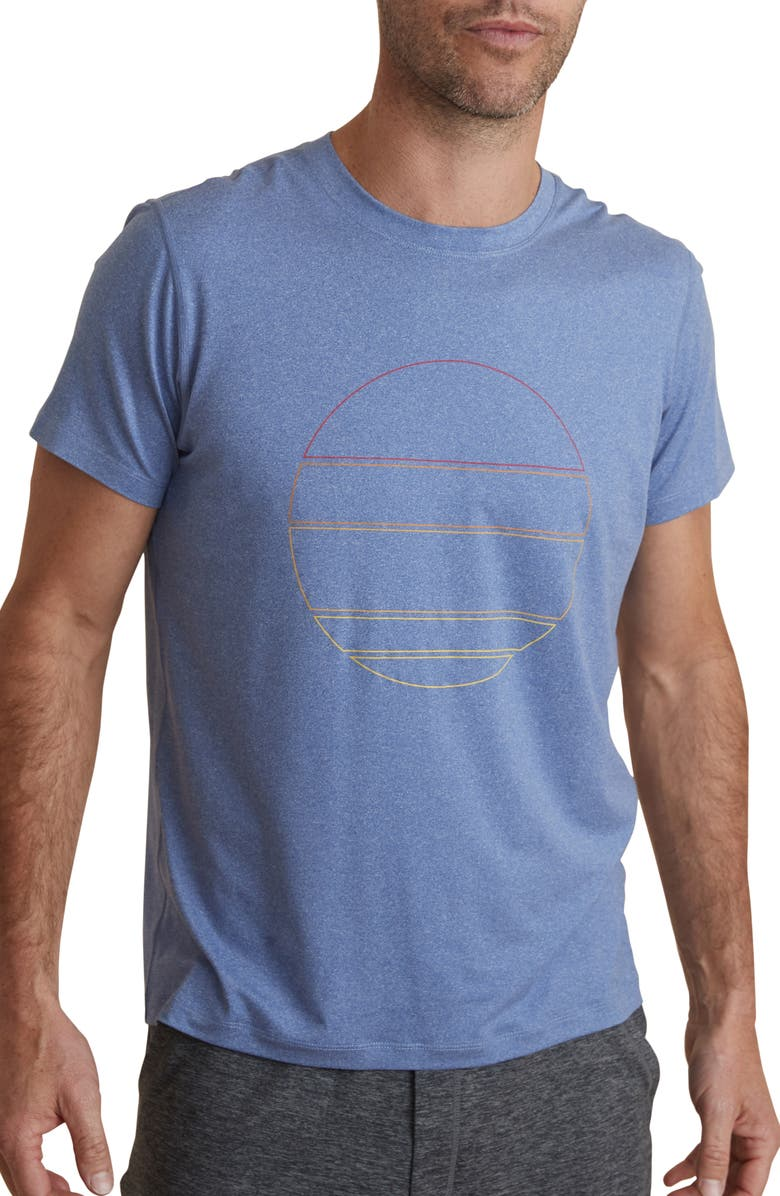 MARINE LAYER Sport Crewneck T-Shirt, Main, color, OIL BLUE