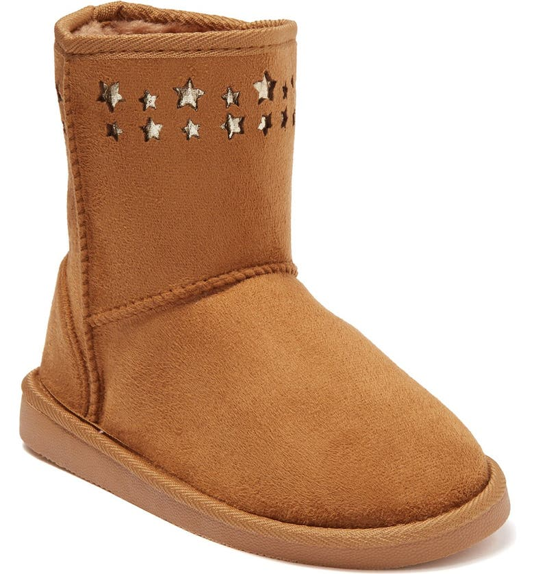 BEBE Star Faux Fur Lined Microsuede Winter Boot, Main, color, 230