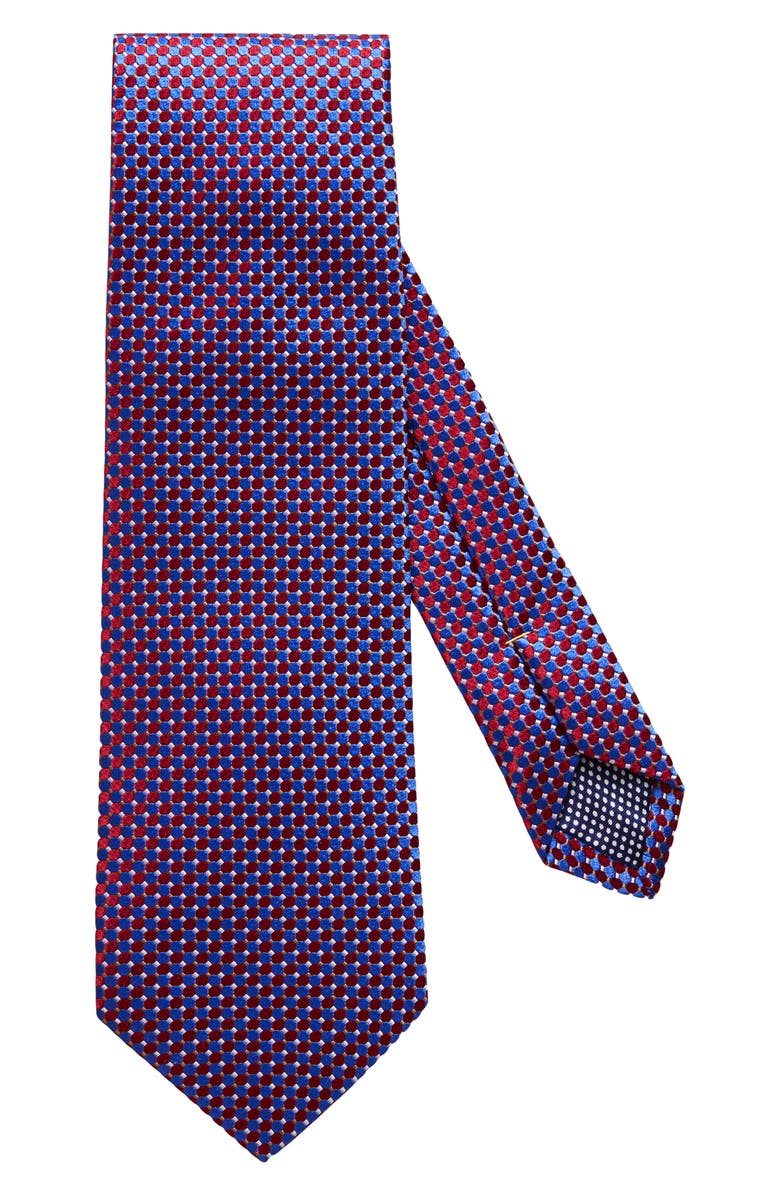 ETON Microdot Silk Tie, Main, color, RED