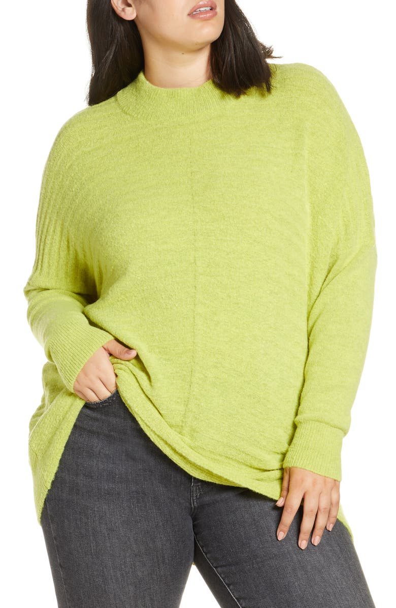 SINGLE THREAD Textured Mock Neck Sweater, Main, color, SULPHER SPRING