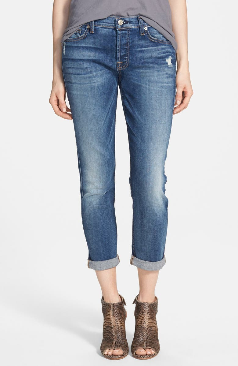 7 FOR ALL MANKIND <sup>®</sup> 'Josefina' Mid Rise Boyfriend Jeans, Main, color, 400