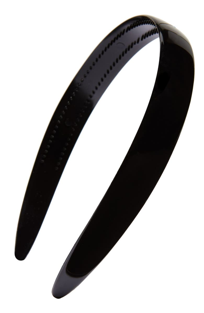 BELLE BY FRANCE LUXE Headband, Main, color, BLACK