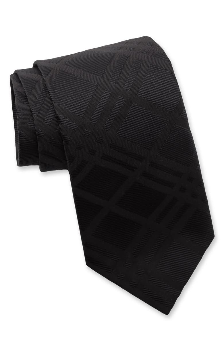 BURBERRY LONDON Woven Silk Tie, Main, color, 001