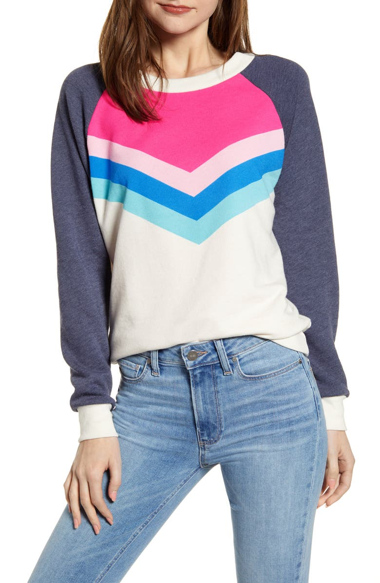 WILDFOX Fiona Passion Chevron Pullover, Main, color, 400