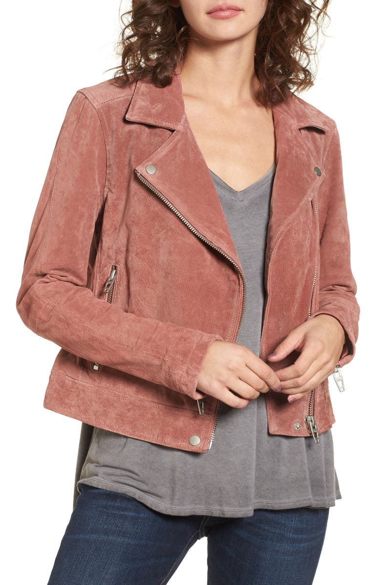 BLANKNYC Suede Moto Jacket, Main, color, 201