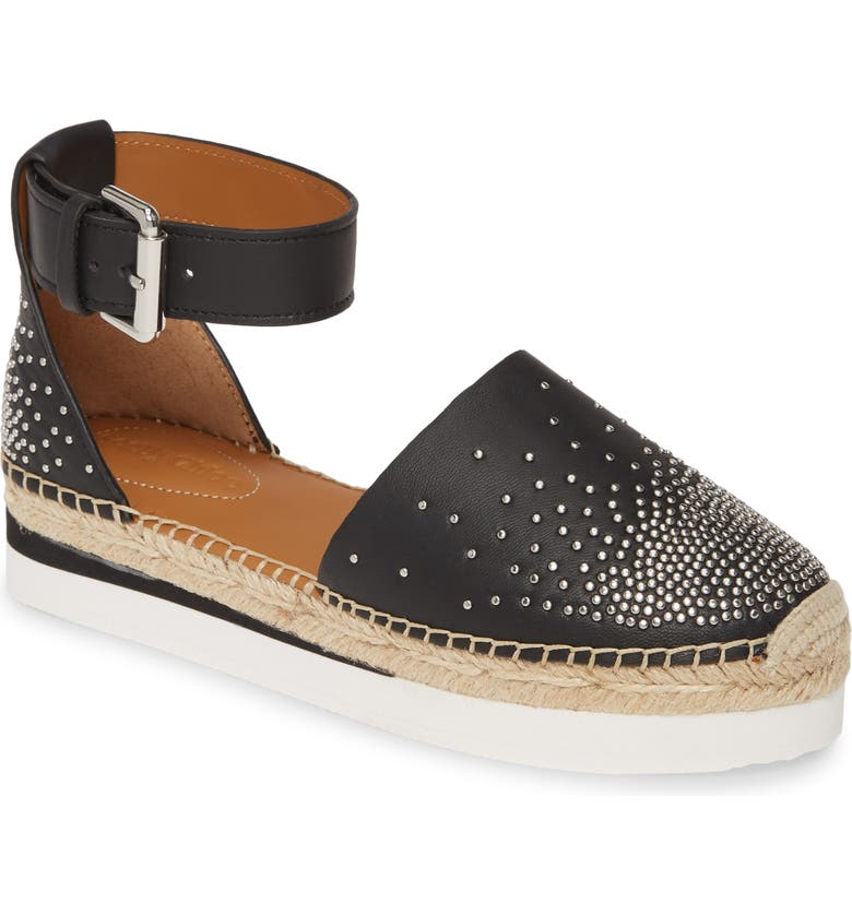SEE BY CHLOÉ Glyn Espadrille Flat, Main, color, 001