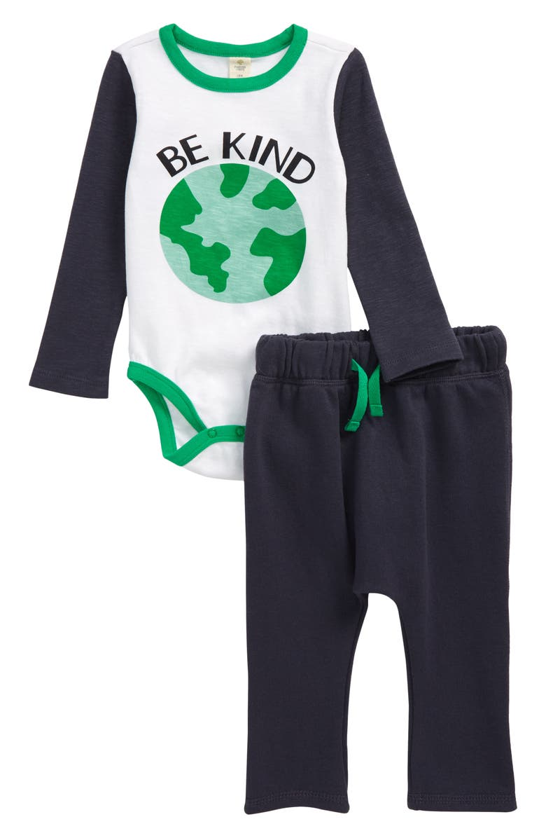 TUCKER + TATE Be Kind Graphic Bodysuit & Joggers Set, Main, color, 410