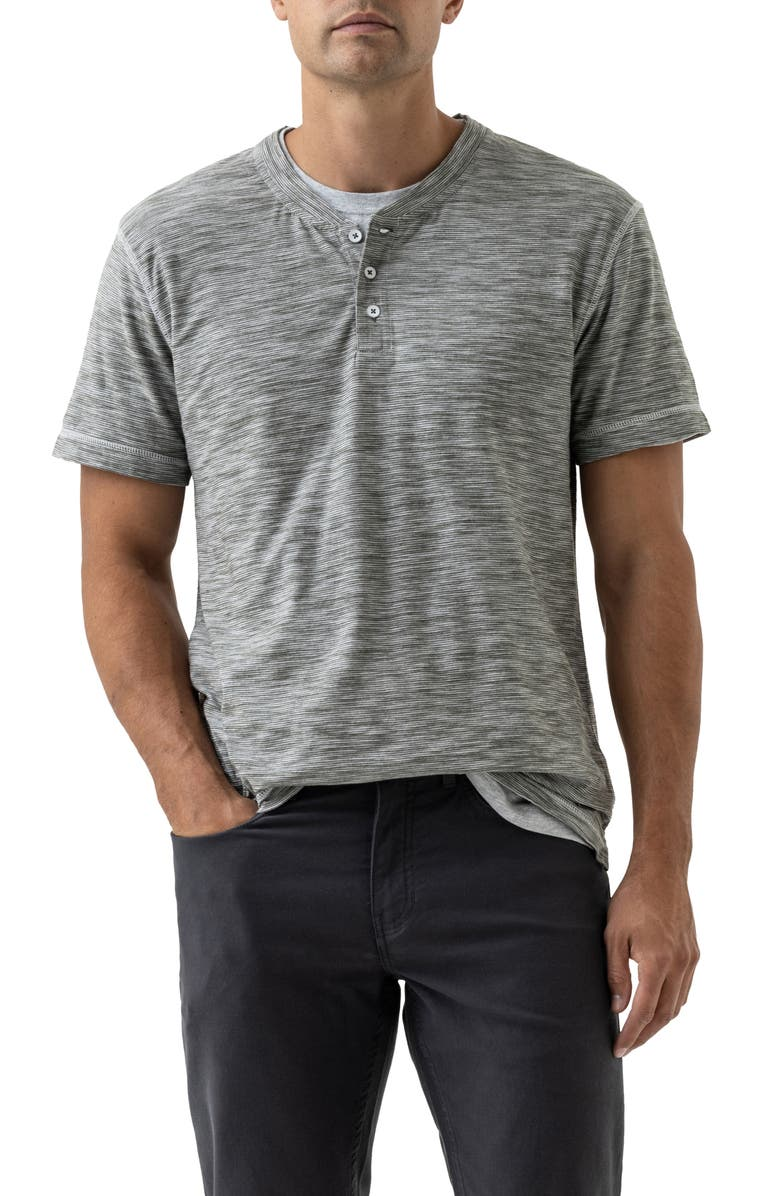 RODD & GUNN Lookout Microstripe Henley, Main, color, SAGE