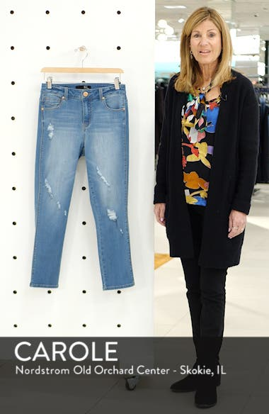 Distressed High Waist Crop Skinny Jeans, sales video thumbnail