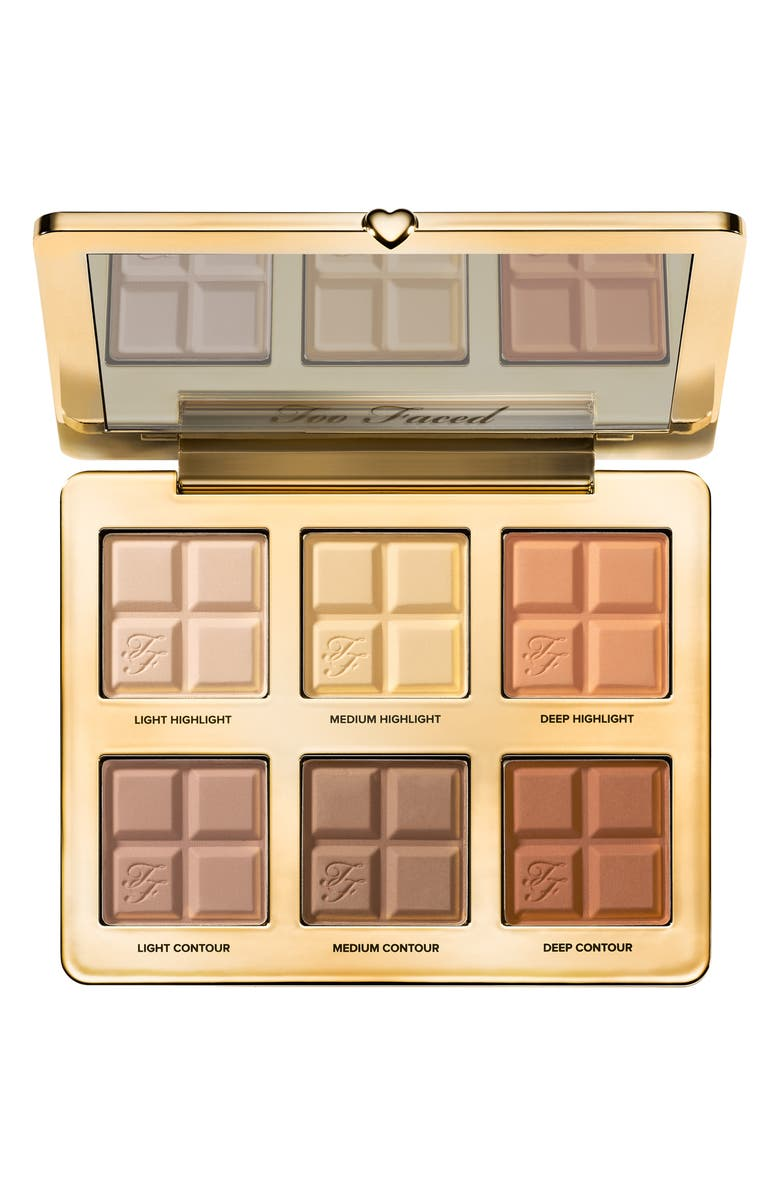 TOO FACED Cocoa Contour Contouring and Highlighting Palette, Main, color, NO COLOR