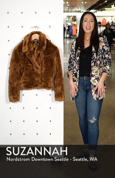 Mena Faux Fur Jacket, sales video thumbnail