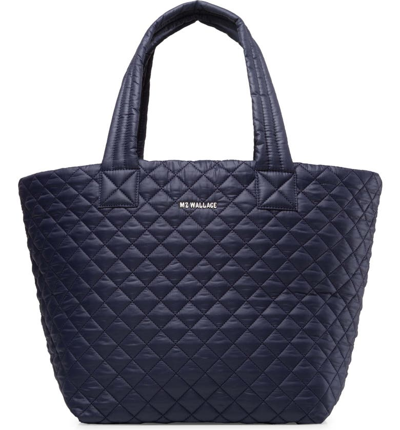 MZ WALLACE Medium Metro Quilted Nylon Tote, Main, color, DAWN