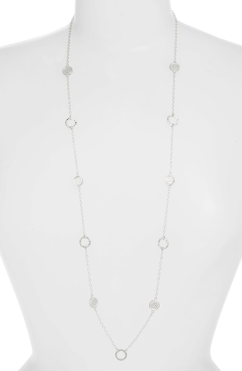 ANNA BECK Long Hammered Station Necklace, Main, color, 040