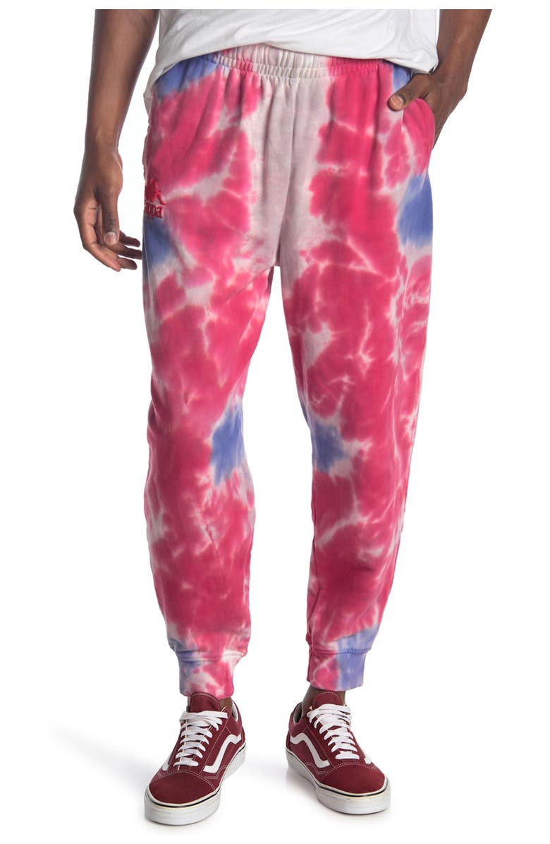 KAPPA ACTIVE Authentic Culbio Tie Dye Pants, Main, color, GREY-BLUE-RED