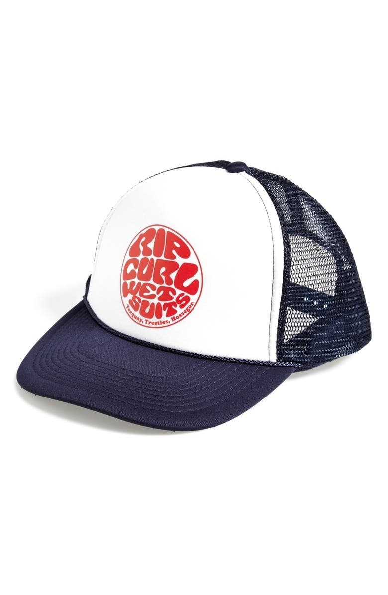 RIP CURL 'Freedom' Trucker Hat, Main, color, 400