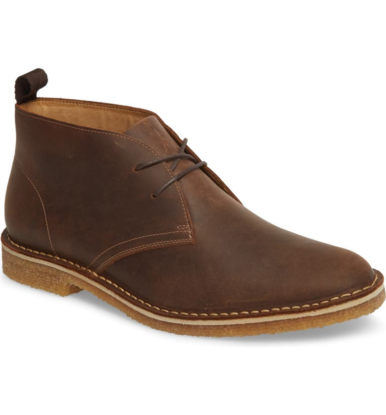 NORDSTROM Hudson Chukka Boot, Main, color, BROWN LEATHER