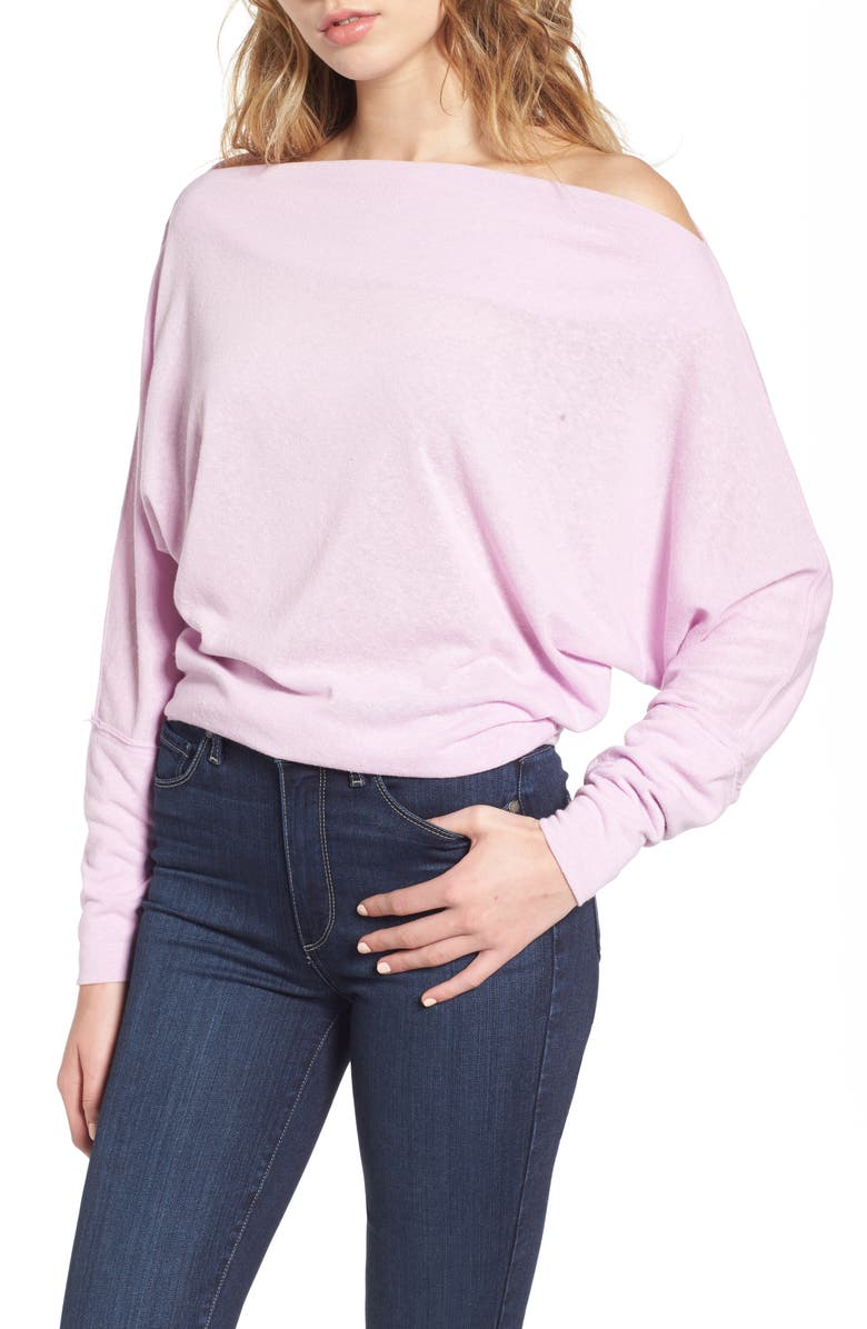FREE PEOPLE Valencia Off the Shoulder Pullover, Main, color, 230