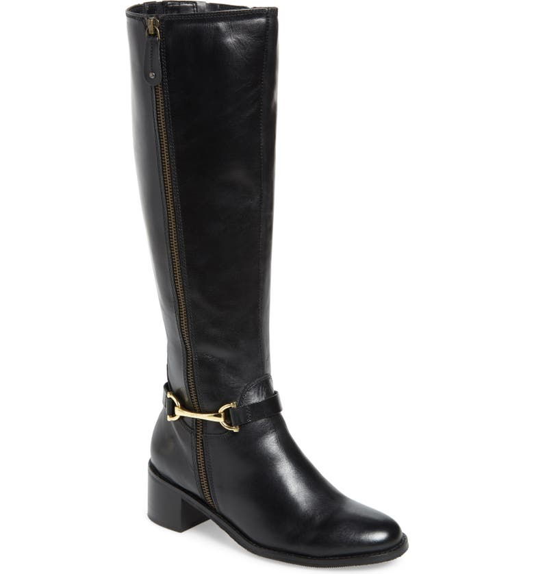 CARVELA COMFORT Waffy Knee High Riding Boot, Main, color, 001