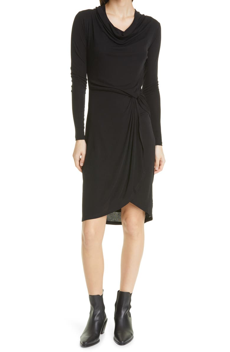 TED BAKER LONDON Faustaa Long Sleeve Jersey Dress, Main, color, 001