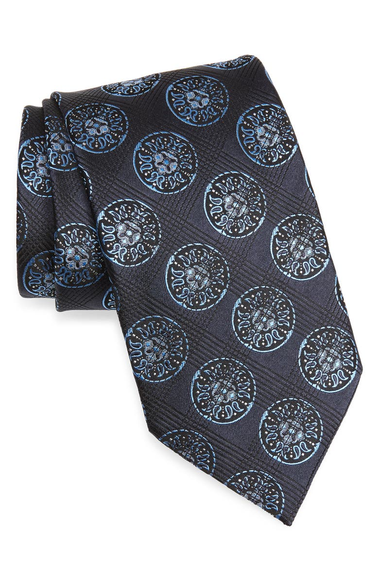 ERMENEGILDO ZEGNA Silk Tie, Main, color, NAVY
