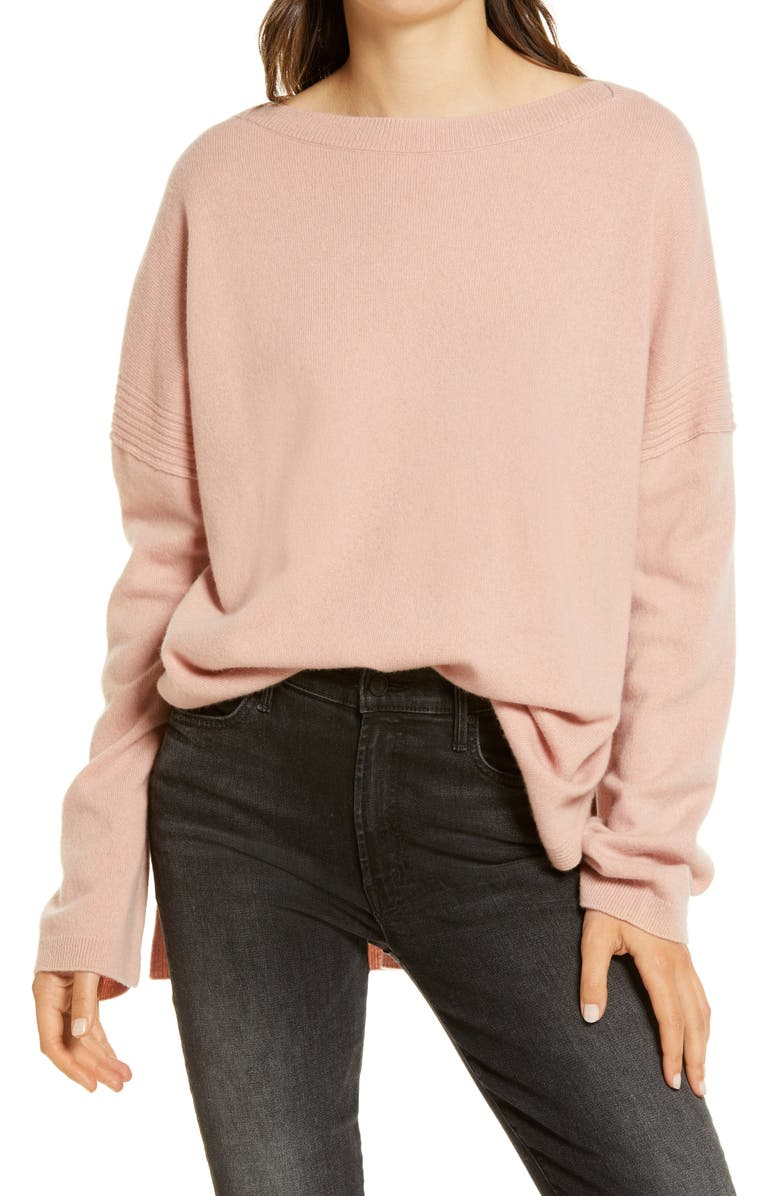 ALLSAINTS Tara Cashmere & Wool Sweater, Main, color, BALLET PINK