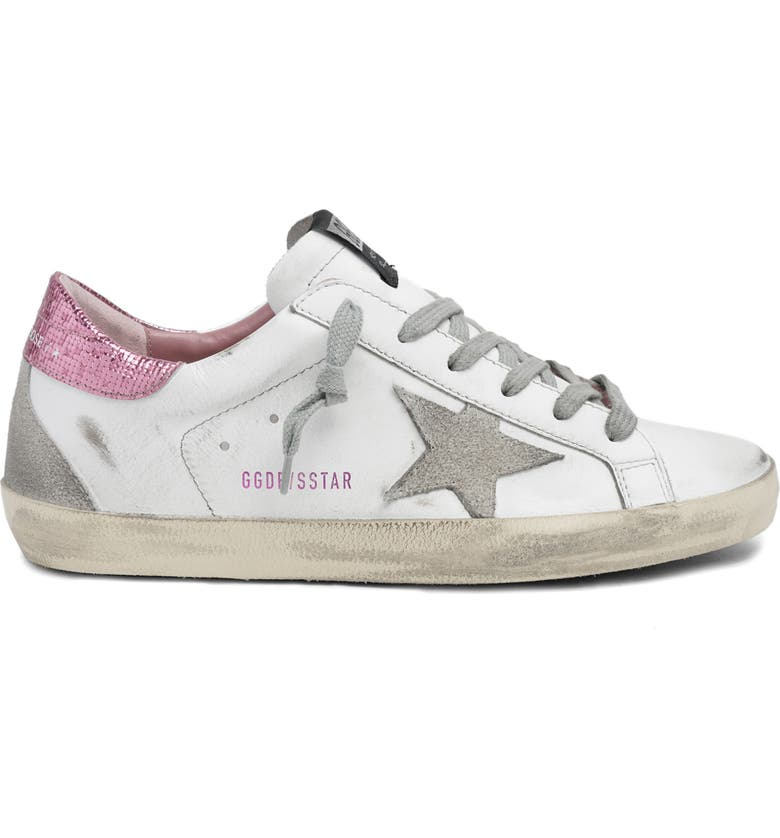 GOLDEN GOOSE Super-Star Sequin Sneaker, Main, color, WHITE/ICE/PINK
