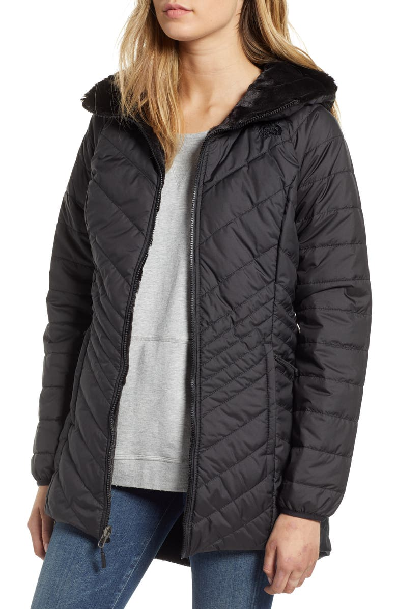 THE NORTH FACE Mossbud Reversible Insulated Parka, Main, color, 001