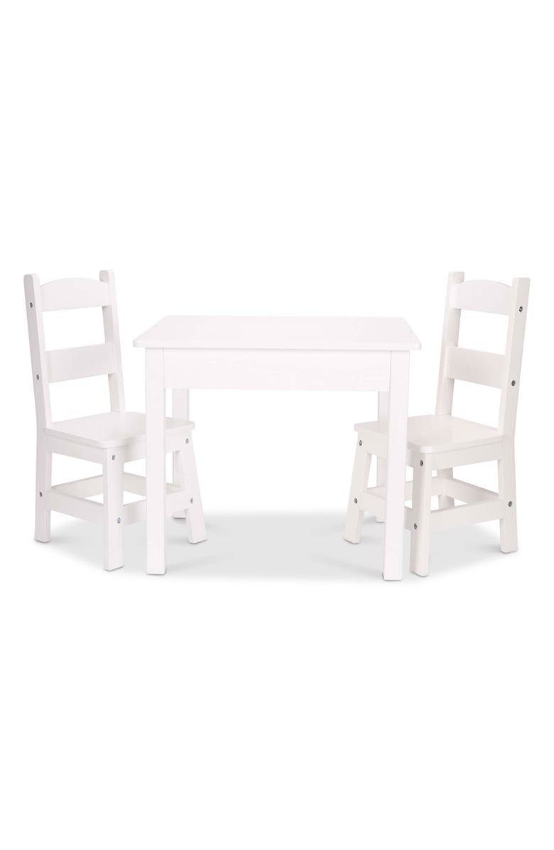 MELISSA & DOUG Wooden Table & Chairs Set, Main, color, 960