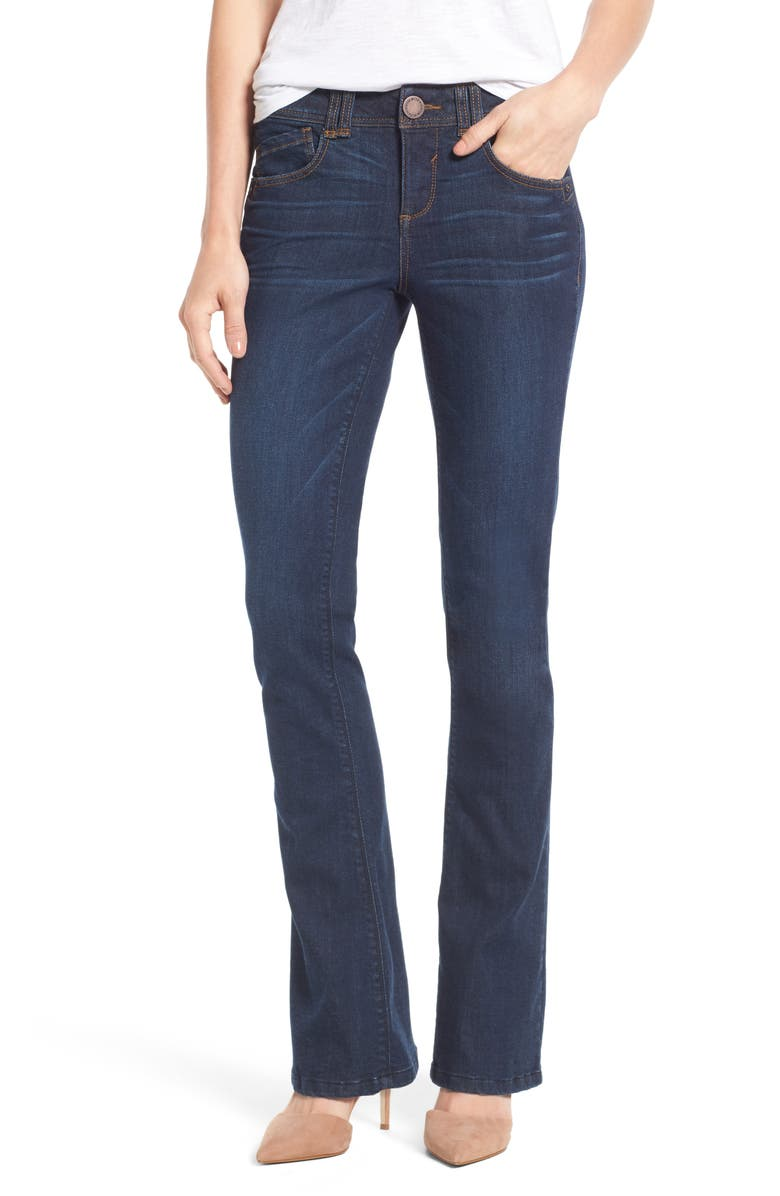 WIT & WISDOM Ab-Solution Itty Bitty Bootcut Jeans, Main, color, BLUE