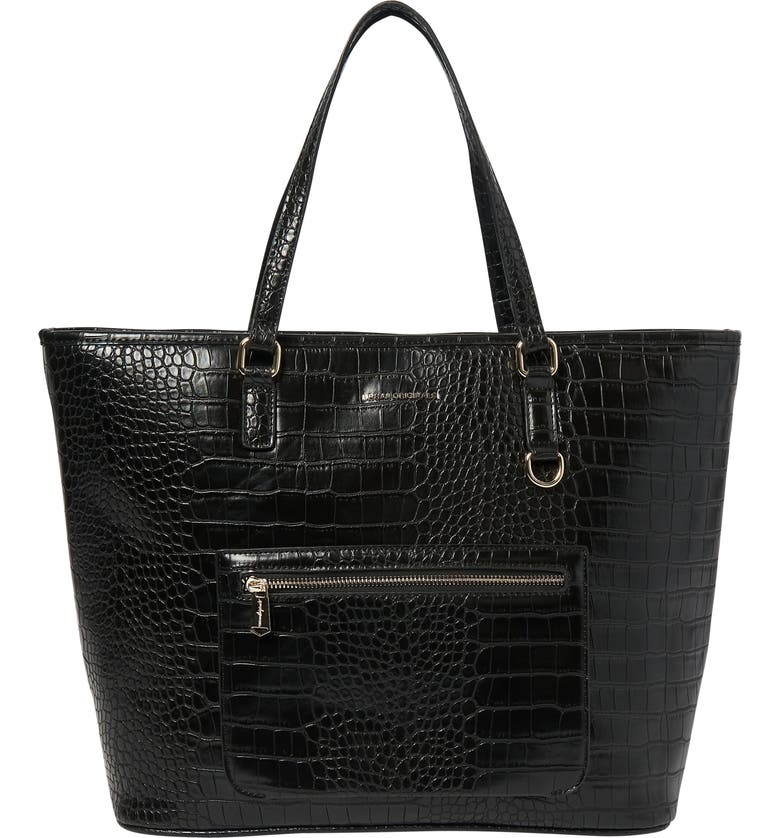 URBAN ORIGINALS Croc Embossed Vegan Leather Tote, Main, color, 001