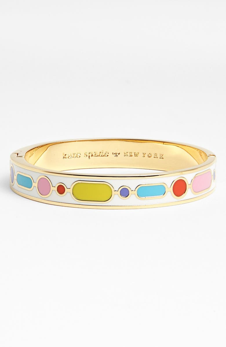 KATE SPADE NEW YORK 'idiom - mix and mingle' hinged bangle, Main, color, 400