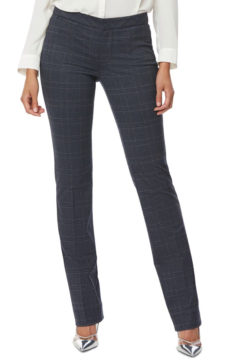 NYDJ Plaid Slim Ponte Trousers, Main, color, MARIPOSA PLAID