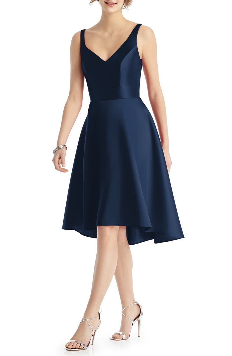 ALFRED SUNG Sweetheart Neck Cocktail Dress, Main, color, MIDNIGHT