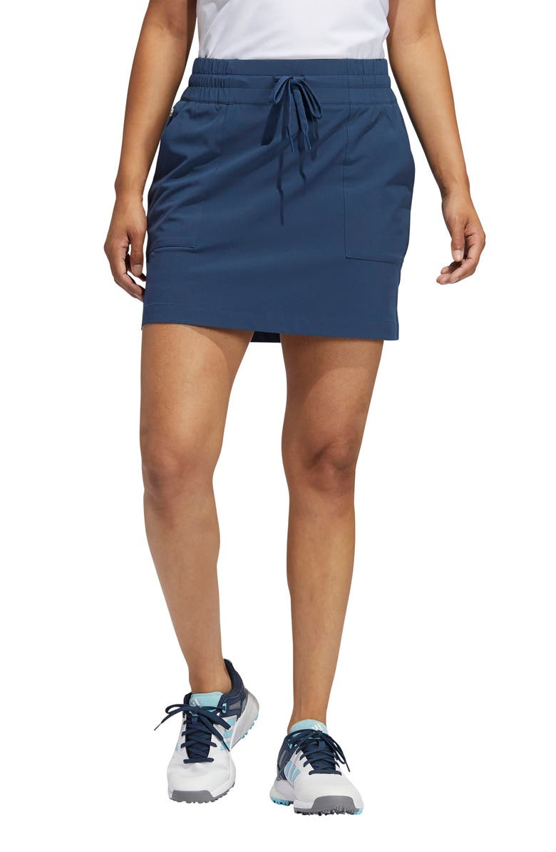 ADIDAS GOLF Go To Commuter Primegreen Skort, Main, color, CREW NAVY