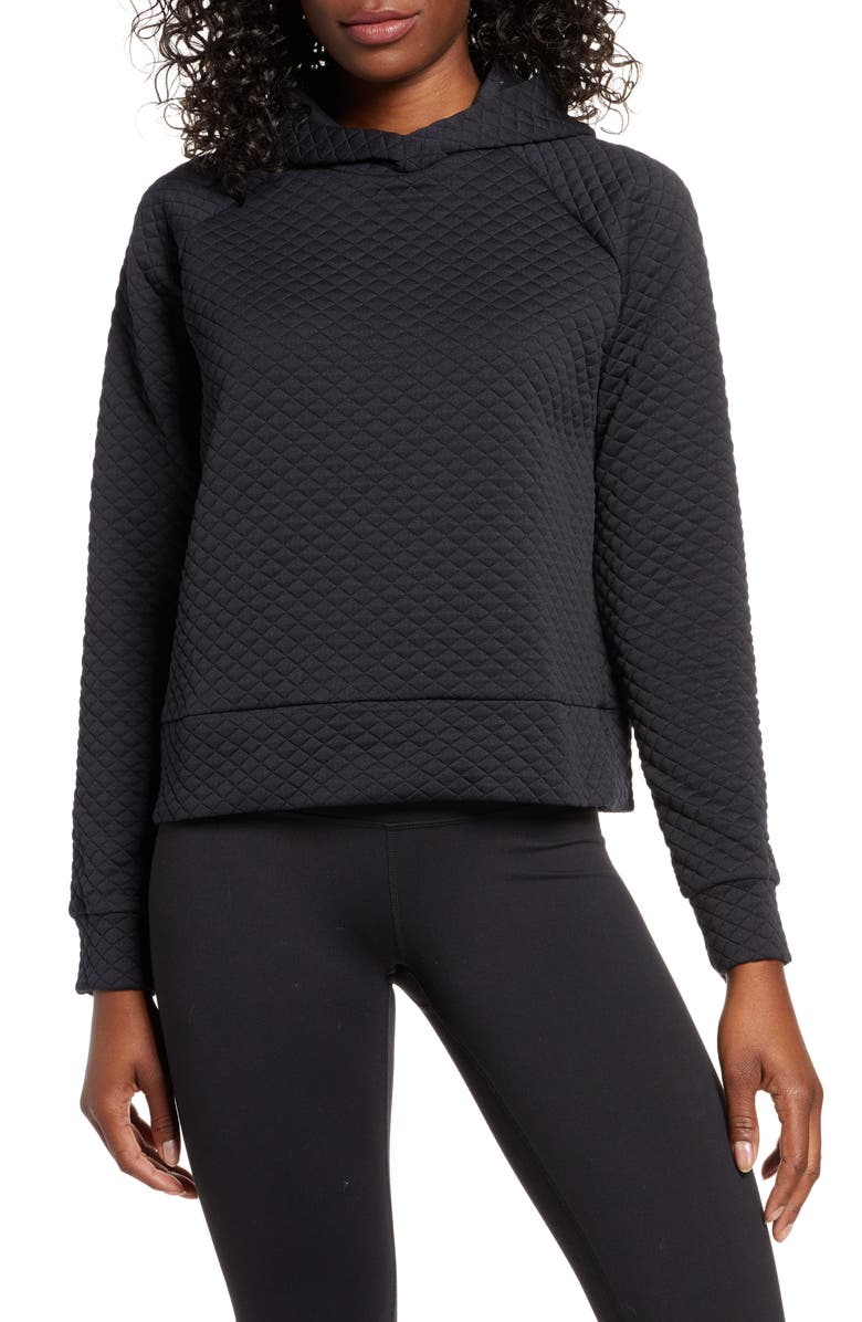 NEW BALANCE Heat Loft Crop Hoodie, Main, color, 001