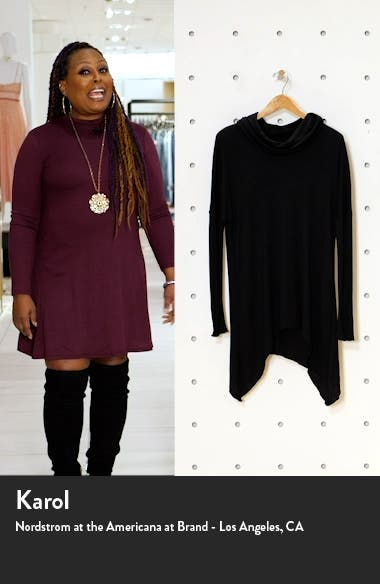 Slouchy Cowl Neck Top, sales video thumbnail