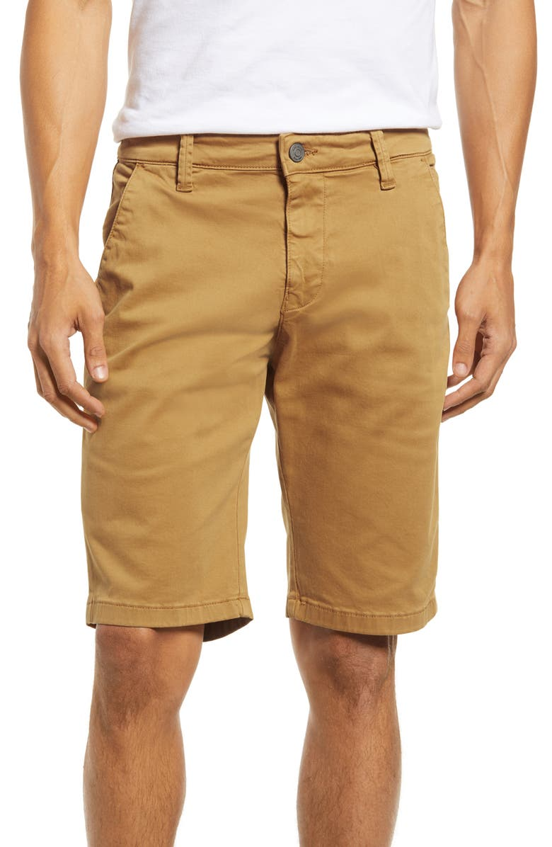 MAVI JEANS Men's Jacob Slim Fit Flat Front Chino Shorts, Main, color, SUGAR BROWN TWILL