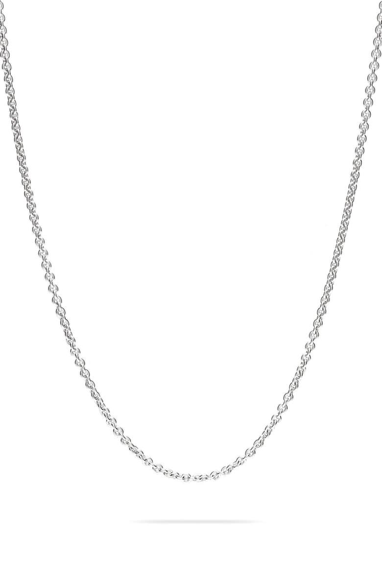 TOM WOOD Rolo Silver Chain Necklace, Main, color, 040