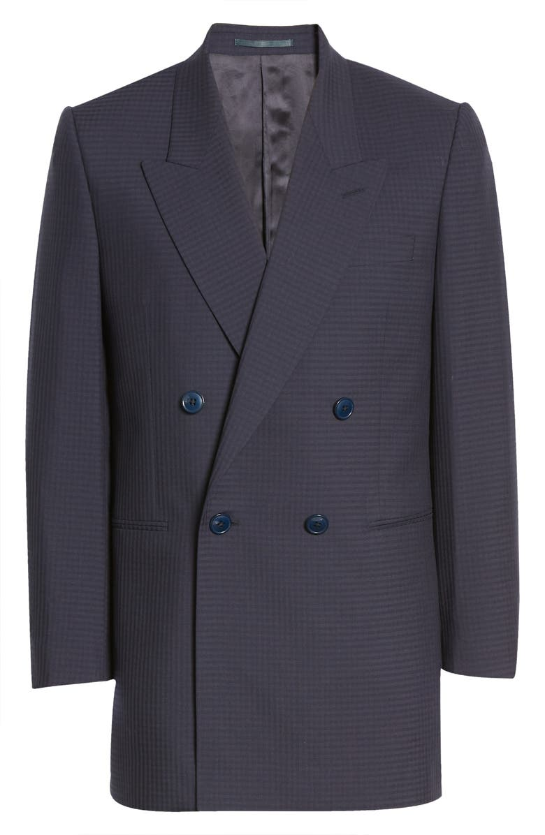 MARTINE ROSE Bobby Double Breasted Wool Blazer, Main, color, 410