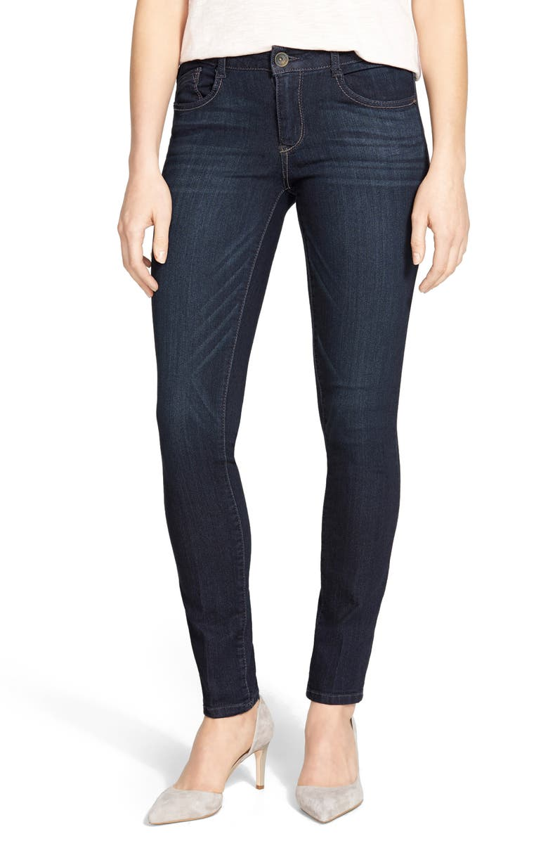 WIT & WISDOM Jeggings, Main, color, DARK NAVY