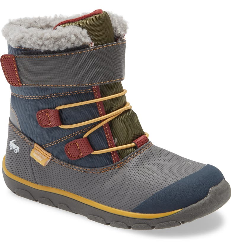 SEE KAI RUN Gilman Waterproof Insulated Boot, Main, color, GRAY/ BLUE