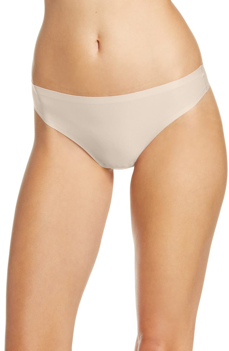 CHANTELLE LINGERIE Soft Stretch Thong, Main, color, ROSE NUDE