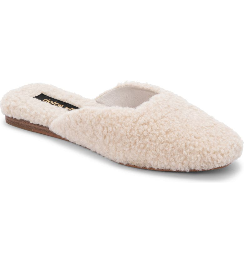 DOLCE VITA Saydee Faux Shearling Mule Slipper, Main, color, NATURAL PLUSH