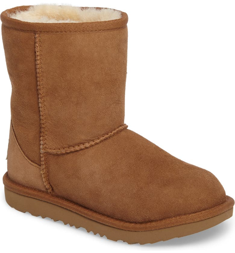 UGG<SUP>®</SUP> Classic Short II Water Resistant Genuine Shearling Boot, Main, color, CHESTNUT BROWN